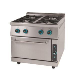 Κουζίνα Υγραερίου 4 Εστιών με Φούρνο FC4FS7