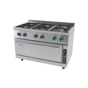 Κουζίνα Υγραερίου 6 Εστιών με Ενιαίο Φούρνο FC6FLS7