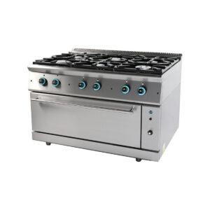Κουζίνα Υγραερίου 6 Εστιών με Ενιαίο Φούρνο FC6FLS9