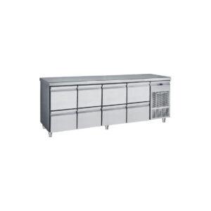Ψυγείο Πάγκος με 8 Συρτάρια GN Συντήρηση PG 239 S